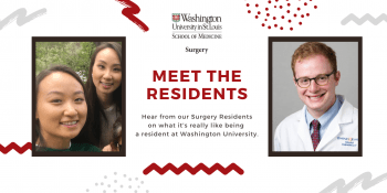 Image of Helen Kim, MD, and Brad Krasnick, MD, Washington University surgical residents.