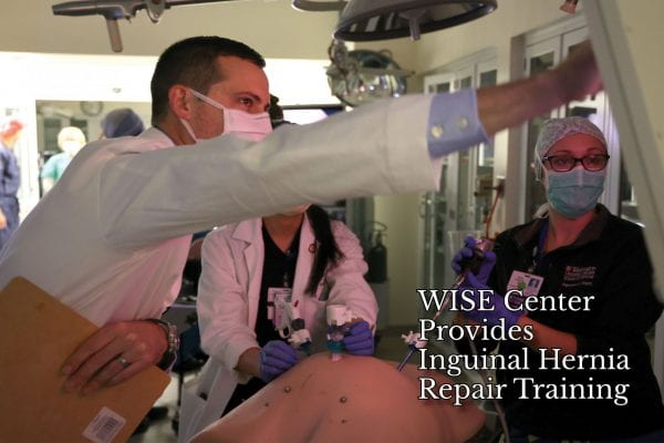WISE Center Provides Inguinal Hernia Repair Training