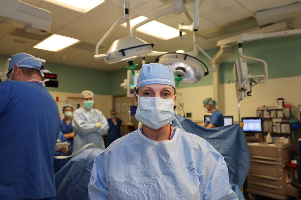 Dr. Doyle in operating room
