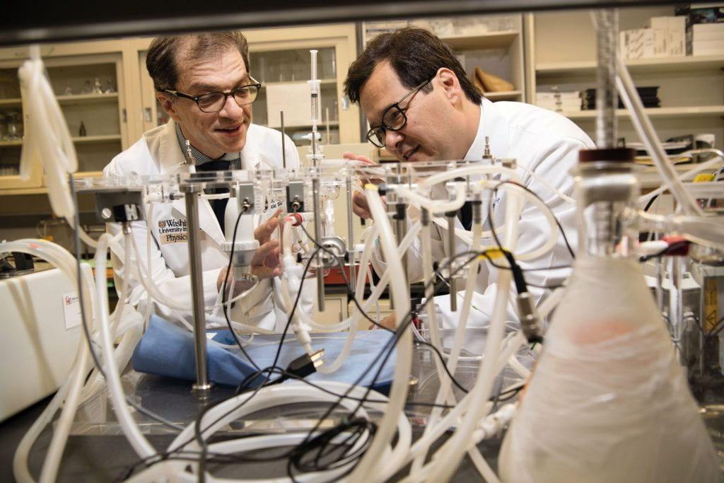 Daniel Kreisel, MD, PhD, left, and Andrew Gelman, PhD
