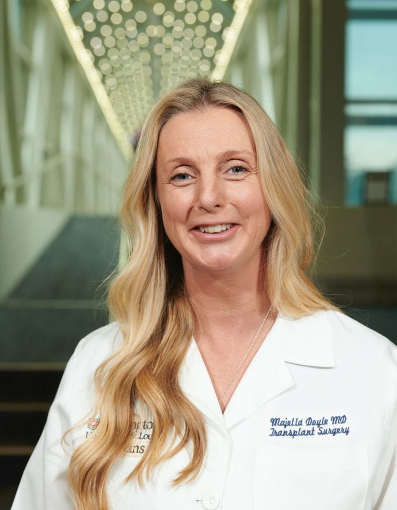 Transplant surgeon Majella Doyle, MD
