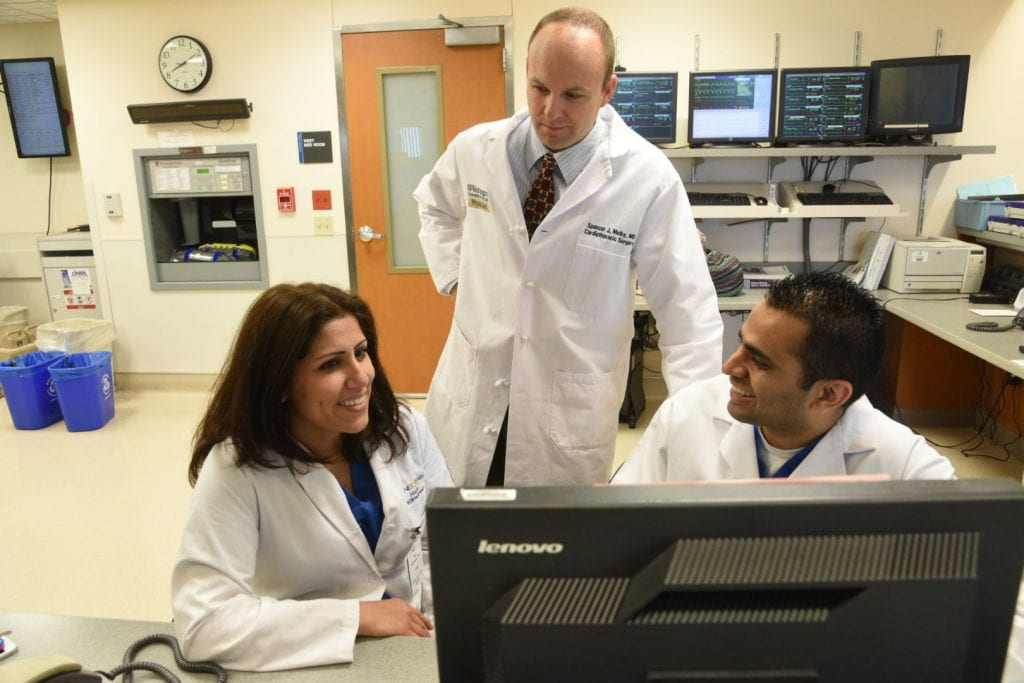 Puja Kachroo, MD, Spencer Melby, MD, and graduated fellow Chirag Patel, MD
