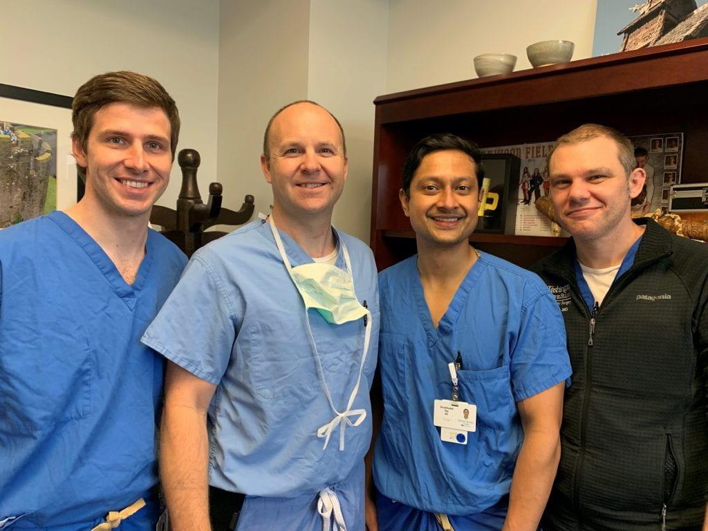 Matt Henn, MD, MS, Spencer Melby, MD, Shuddhadeb Ray, MD, MPHS, and Jacob Miller, MD