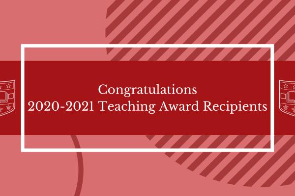 Department of Surgery Teaching Awards 2020-2021
