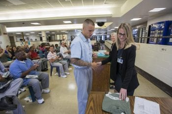 5.23.2018--The Prison Education Project Recognition Ceremony with remarks by Barbara Schaal, Dean of the Faculty of Arts & Sciences held at the Missouri Eastern Correctional Center in Pacific, MO. Photos by Joe Angeles/Washington University