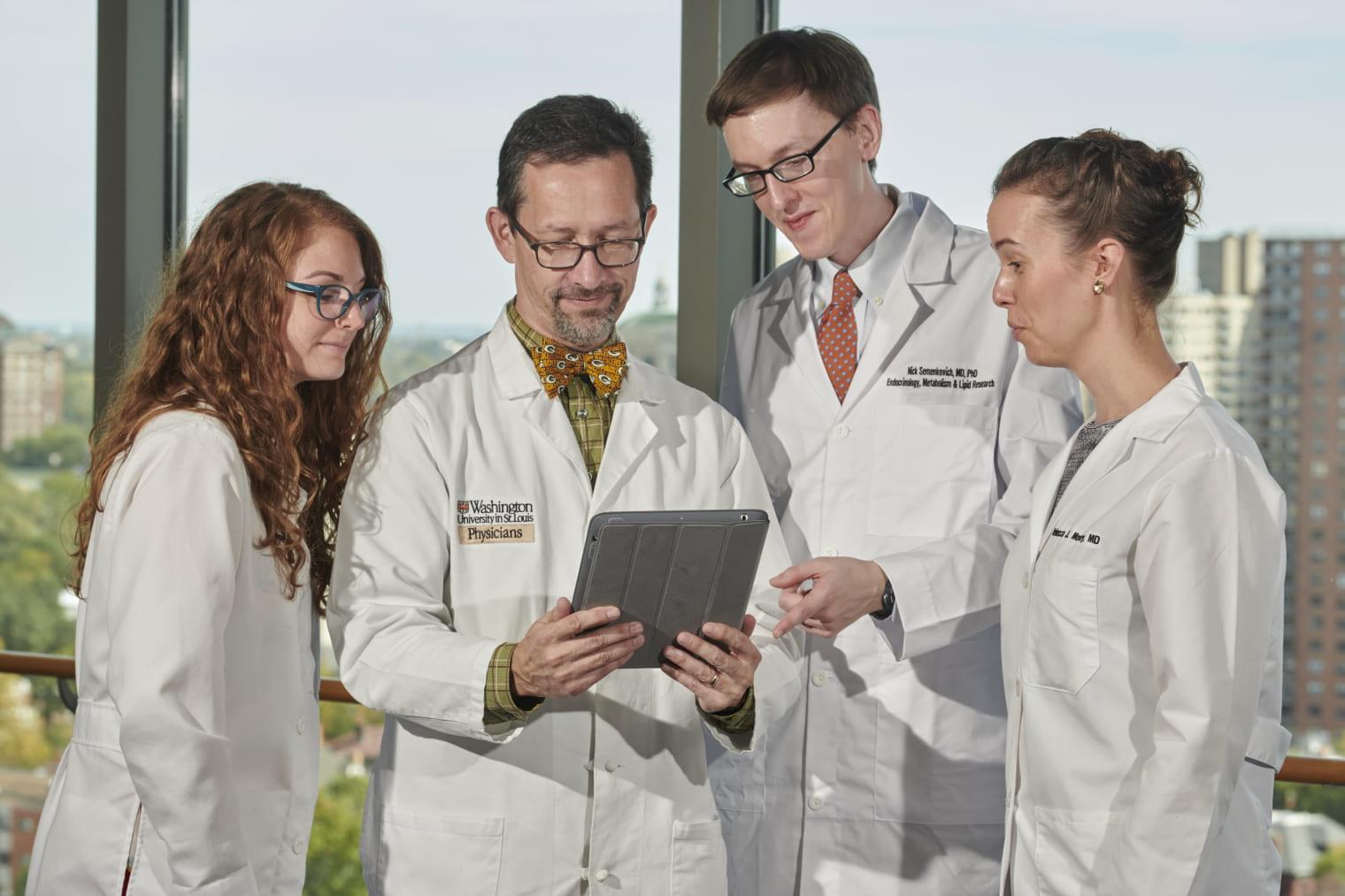 Dr. Thomas Baranski with clinical fellows
