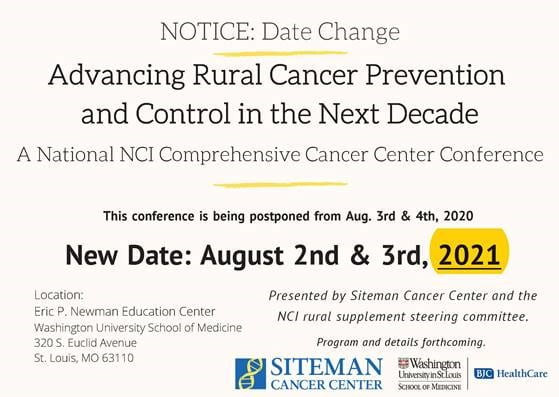 Save the  New Date: Rural Cancer Conference