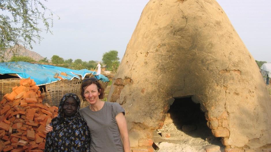 Maria Kett with a respondent- Darfur-2008