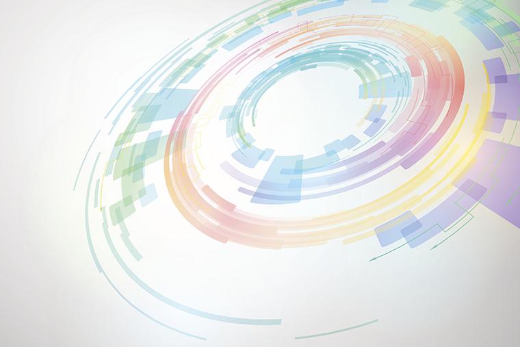 Colorful digital circle