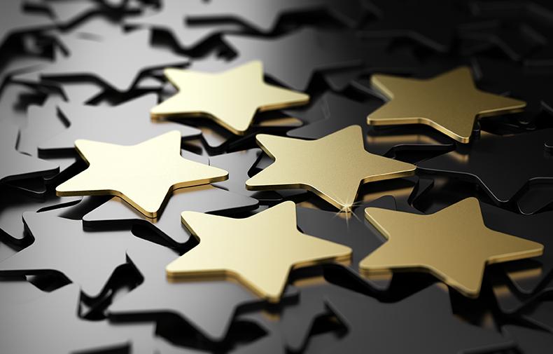 Small gold stars