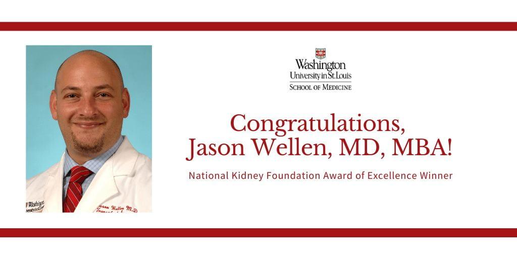 Jason Wellen Receives National Kidney Foundation Award