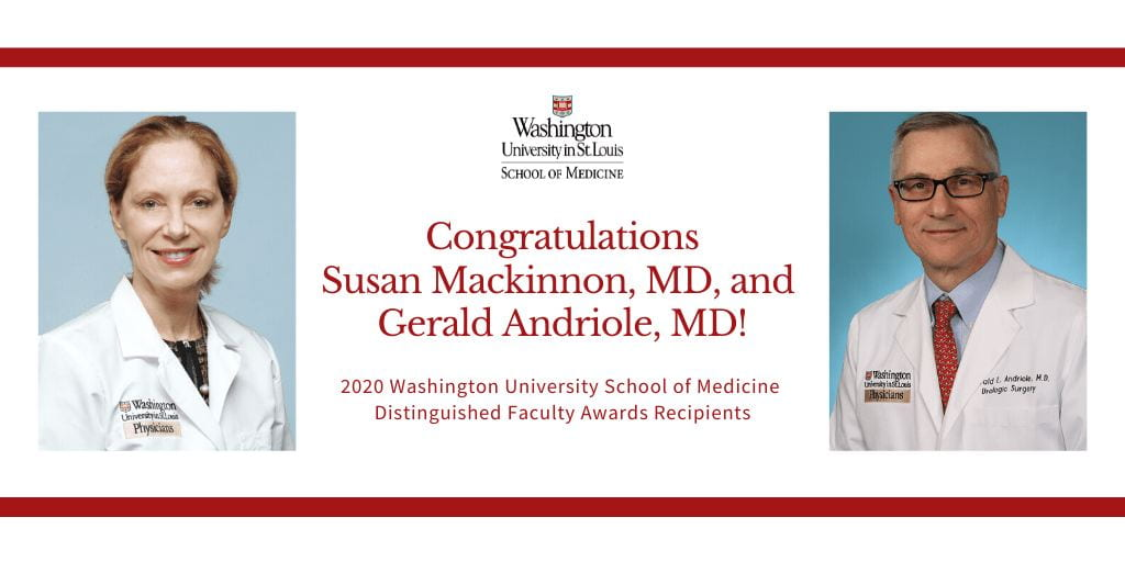 Andriole and Mackinnon Receive 2020 Distinguished Faculty Awards