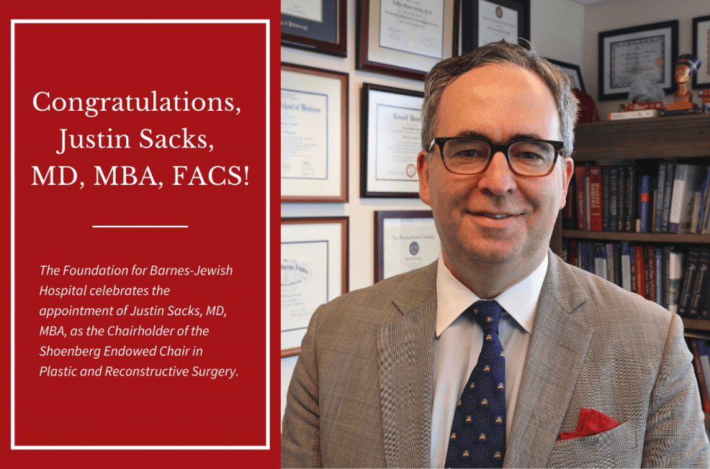 Chair Installation of Justin Sacks, MD, MBA, FACS
