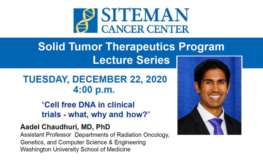 Dr. Chaudhuri to give cfDNA lecture