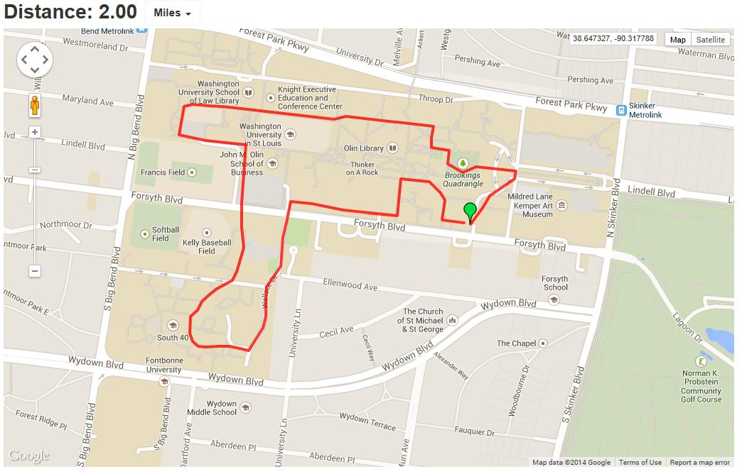 Walking Maps Human Resources Washington University in St Louis
