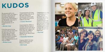 WashU Staff Service Milestone Yearbook sample