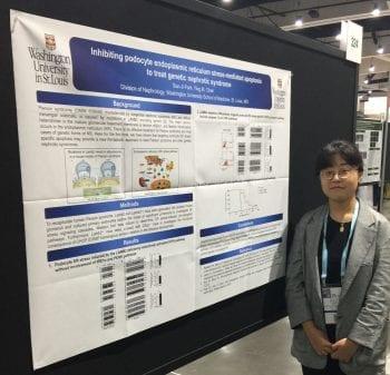 Sun-Ji presents her poster at the 2018 ASN meeting