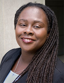 Angela Onwuachi-Willig joined the Berkeley Law faculty in 2016. Previously, she taught at the University of Iowa College of Law, where she was the Charles and Marion Kierscht Professor and at the University of California, Davis, King Hall, where she was an Assistant Professor of Law. She teaches Employment Discrimination, Evidence, Family Law, Critical Race Theory, and Torts. This image shows Angela smiling.