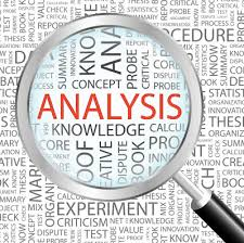a magnifyer looks over the word analysis
