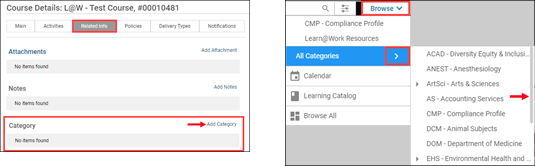 adding and searching by category