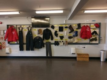 ECW clothing display