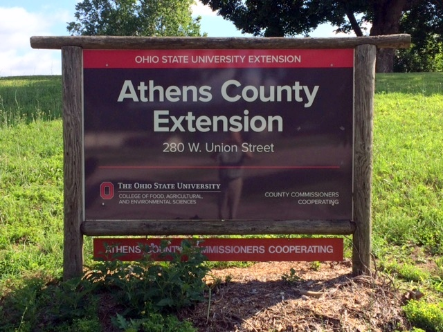 Athens County Extension sign