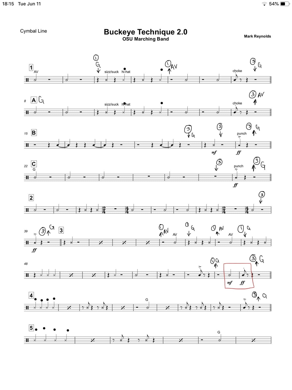 Music PDFs | Ohio State Drumline