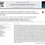 Paper titled The Application of 3D Geometric Morphometrics and Laser Surface Scanning to Investigate the Standardization of Cranial Vault Modification in the Andes.
