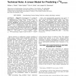 Paper titled A Linear Model for Predicting d13C protein.