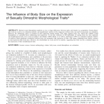 Paper titled The Influence of Body Size on the Expression of Sexually Dimorphic Morphological Traits