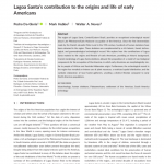Paper titled Lagoa Santa's contribution to the origins and life of early Americans