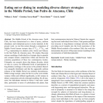 Paper titled Eating out or dining in: Modelling diverse dietary strategies in Middle Period San Pedro de Atacama, Chile.