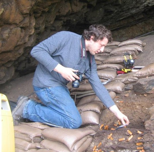 Daniel in an excavation in South Africa