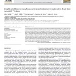 Paper titled Insights into Holocene megafauna survival and extinction in southeastern Brazil from 2 new AMS 14C dates.