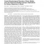 Paper titled Cranial morphological diversity of Early, Middle and Late Holocene Brazilian groups: implications for the human dispersion in the Brazilian territory