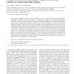 Paper titled Craniometric diversity of the common vampire bat (Desmodus rotundus) in Central and South America.