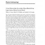 Paper titled A late paleoindian secondary ritual burial from Lagoa Santa, Minas Gerais, Brazil.