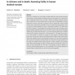 paper titled In sickness and in death: Assessing frailty in human skeletal remains.