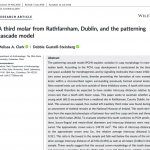 Paper titled A third molar from Rathfarnham, Dublin, and the patterning cascade model