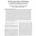 Paper titled: The Precarious State of Subsistence Reevaluating Dental Pathological Lesions Associated with Agricultural and Hunter-Gatherer Lifeways