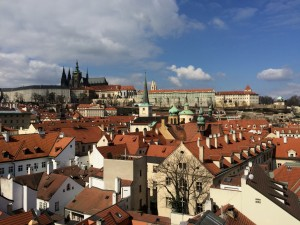 View from a rooftop in Prague