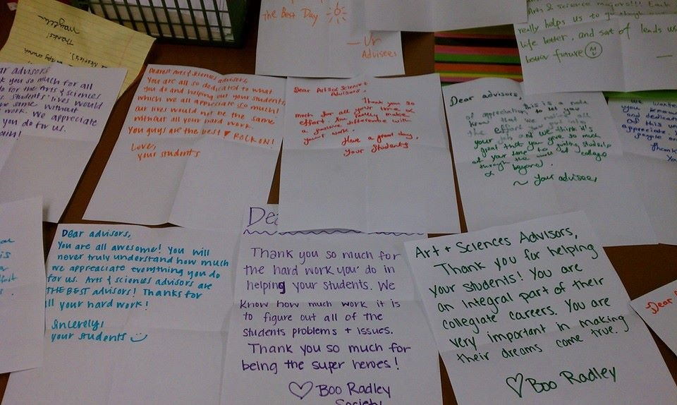 Thank You notes from students