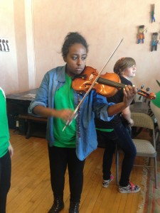 This is me playing violin in a workshop in Chicago