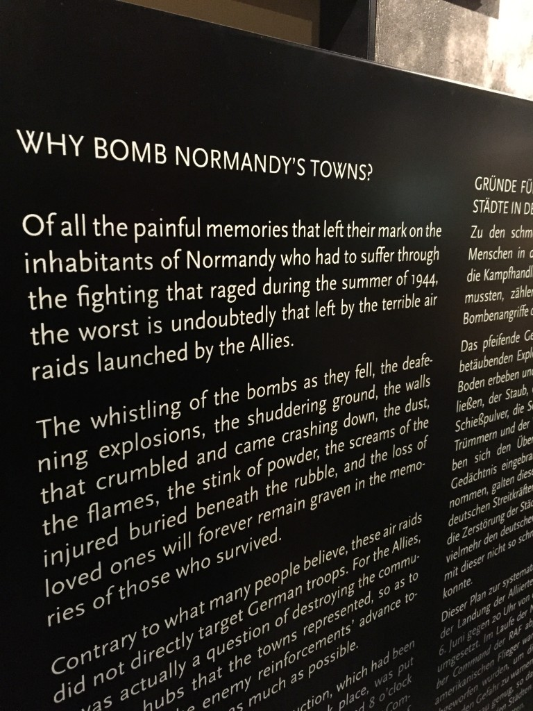 Why bomb Normandy's towns?