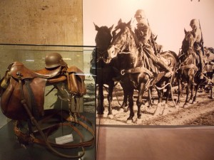 Depleting resources caused Germany to be more reliant on horses than mechanized division towards the end of the war.