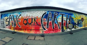 A section of East Side Gallery, once the Berlin Wall.