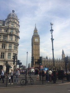 Traditional tourist shot of Big Ben. Big Ben is attached to the Parliament building.