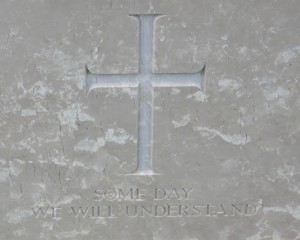 Families of fallen soldiers had the option of engraving stones with a message. I found this one particularly striking.