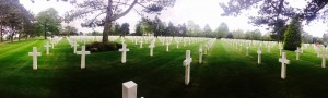 View from the American Cemetery at Normandy