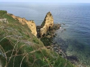 The cliff of Pointe du Hoc